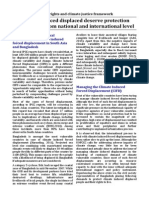 Position Paper on Climate Induced Forced Migration