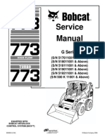 Bobcat 773 Service Repair Manual
