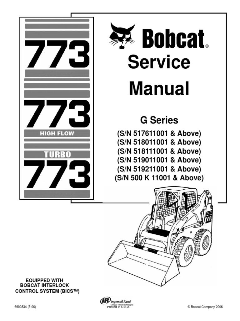 Bobcat 773 Service Repair Manual | Elevator | Mechanical Engineering