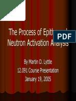 Proses Analisis Aktivasi Neutron Ephitermal