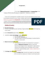 Finance Assignment Instruction