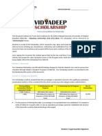 Vidyadeep Scholarship Terms - Fall Drive