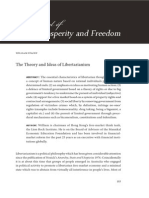 The theory and ideas of libertarianism