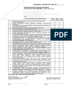 Form Pengecekan Keabsahan Berkas
