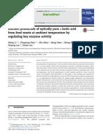 Efficient production of optically pure L-lactic acid.pdf