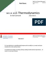 Class test on Thermodynamics