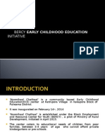 'NAWNIHAAL CHATHAAL'- COMMUNITY BASED EARLY CHILDHOOD EDUCATION
