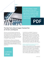 The Real Facts About Copper Twisted-Pair at 10Gb and Beyond