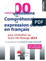 200 Questions de Compréhension Et Expression Ecrite en Francais