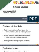 Game Math Case Studies