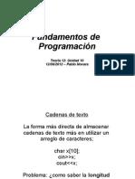 Fundamentos de programación - FICH 2012