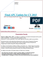 Final APC Update for CY 2015