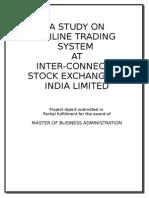 mBA Project Report Stock Exchange
