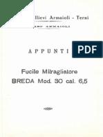 Appunti Fucile Mitragliatore Breda Mod. 30 Cal. 6,5