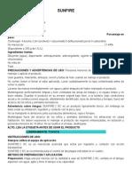 Ficha Tecnica Insecticida SUNFIRE