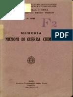 Memoria Nozioni di guerra chimica