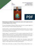 Entrevista Dra Deborah Questao Indigena e Presidio Federal Em Campo Grande