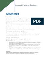 ACCT 221 Homework Problems Solutions - UMUC