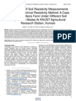 Implications of Soil Resistivity Measurements Using the Electrical Resistivity Method a Case Study of a Maize Farm Under Different Soil Preparation Modes at Knust Agricultural Research Station Kumas