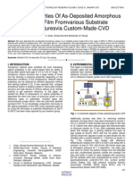 Optical Properties of as Deposited Amorphous Carbon Film Fromvarious Substrate Temperaturesvia Custom Made Cvd