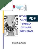 Recomendaciones para prevenir transmisión cruzada