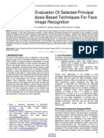 Performance Evaluation of Selected Principal Component Analysis Based Techniques for Face Image Recognition