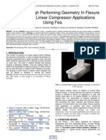 Selection of High Performing Geometry in Flexure Bearings for Linear Compressor Applications Using Fea