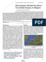 Study of the Wind Speed Rainfall and Storm Surges for the Scheldt Estuary in Belgium