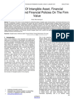 The Effect of Intangible Asset Financial Performance and Financial Policies on the Firm Value