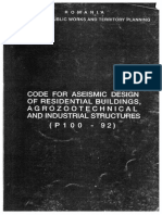 P100-92 - Code for Aseismic Design of Residential Buildings Agrozootechnical and Industrial Structures