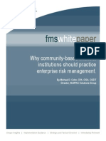 Why Community-based Financial Institutions Should Practice Enterprise Risk Management