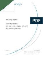 Impact of Employee Engagement on Performance