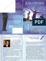 5994417 Joel Osteen 30 Thoughts for Victorious Living