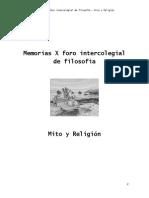 Memorias X Foro Intercolegial de Filosofía Rionegro Antioquia