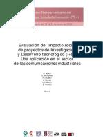 Evaluación del impacto social de proyectos