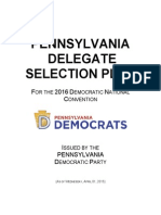 2016 Pennsylvania Democratic Delegate Selection Plan (DRAFT)