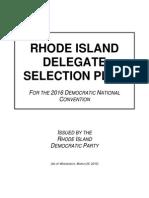 2016 Rhode Island Democratic Delegate Selection Plan (DRAFT)
