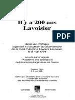 Il y a 200ans Lavoisier texto