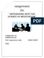 Integrating with the science of negotiation