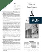 Bulletin Bi Fold Cover