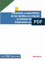 Posiciones y expectativas de las familias en relación al sistema educativo. Exploración cualitativa