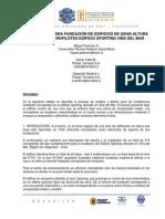 ALTERNATIVA PARA FUNDACIÓN DE EDIFICIOS DE GRAN ALTURA MEDIANTE MICROPILOTES EDIFICIO SPORTING VIÑA DEL MAR