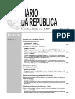Diário da República n.º 40/2015