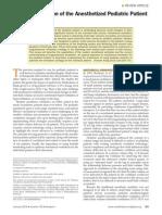 ventilación mecánica paciente pediátrico anestesiado