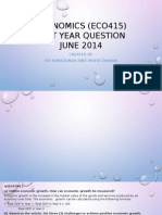Presentation Economy - Past Year June 2014