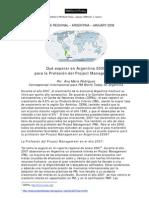 Que esperar en Argentina para Project Management
