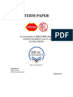 13717552966 BUS 101 Term Paper on PRAN-RFL Group
