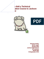 proposal to add a technical communication course to jackson high school
