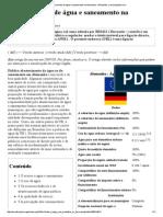 Abastecimento de Água e Saneamento Na Alemanha - Wikipédia, A Enciclopédia Livre