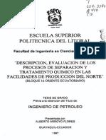 DESCRIPCION, EVALUACION DE LOS PROCESOS DE SEPARACION Y TRATAMIENTOS QUIMICOS FACILIDADES DE PRODUCCION DEL NORTE.pdf